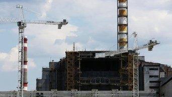 Чернобыльская АЭС. Строительство укрытия
