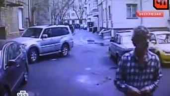 Драка актера Гаркалина с соседом в центре Москвы. Видео