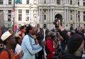 Массовые протесты в Филадельфии