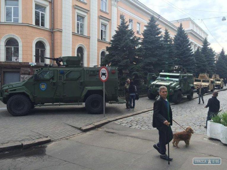 Бронированная техника в центре Одессы