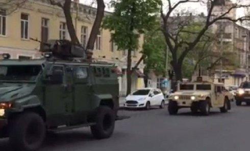 Бронетехника СБУ в Одессе