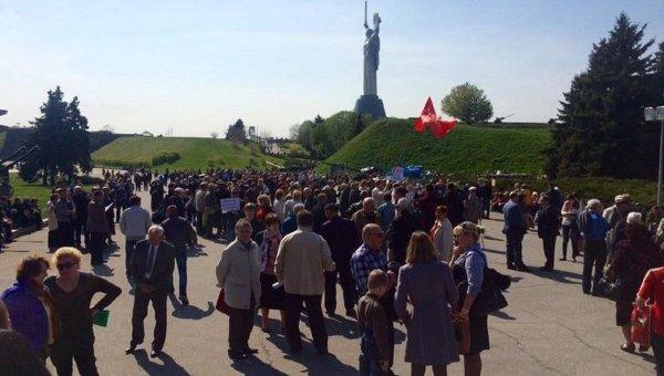 Митинг КПУ и ветеранов 1 мая в Киеве