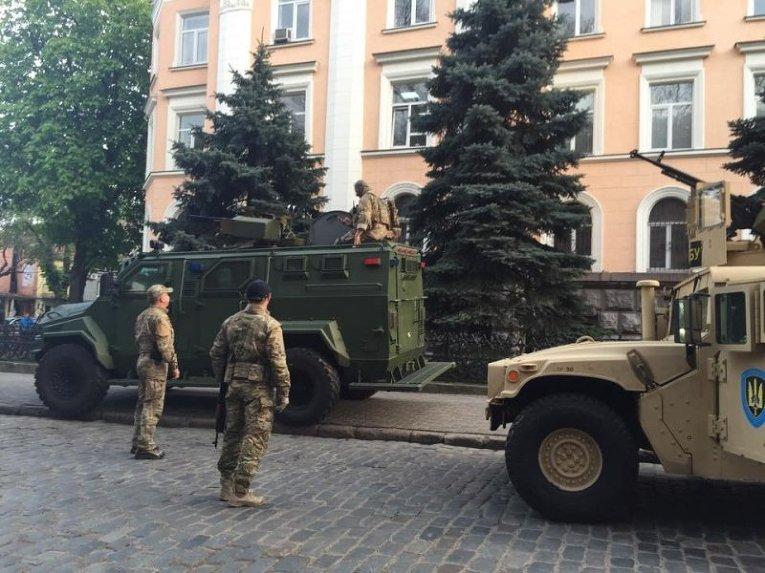 Бронированная техника СБУ в Одессе
