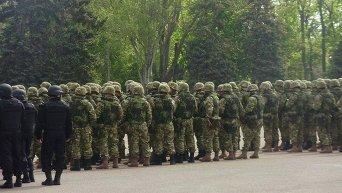Смотр силовиков на Куликовом поле в Одессе