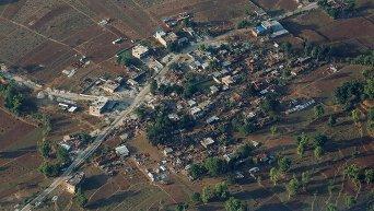 Разрушения в Непале с высоты птичьего полета
