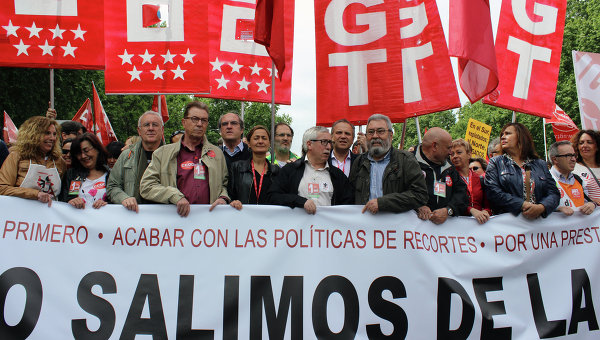 Первомайский митинг в Мадриде