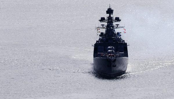 Противолодочный корабль ВМФ РФ. Архивное фото