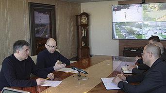 Яценюк и Аваков на совещании. Архивное фото