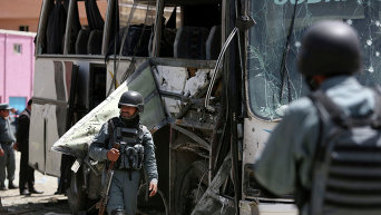 На месте взрыва автобуса в Афганистане