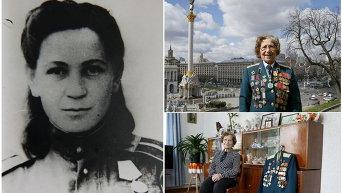 Ветеран Второй мировой войны Валентина Кусинич, 94 года. Она служила медсестрой в танковом полку с декабря 1941 года до апреля 1946