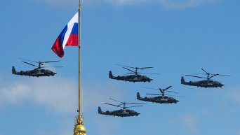 Репетиция воздушной части военного парада в Москве
