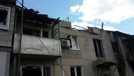 Разрушения в поселке Пески под Донецком