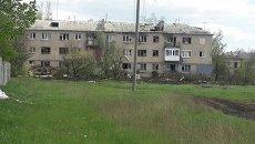 Разрушения в поселке Пески под Донецком. Архивное фото