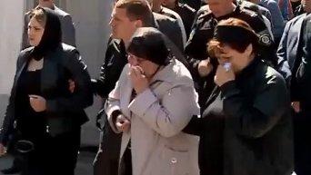 Прощание с погибшими милиционерами в Киеве