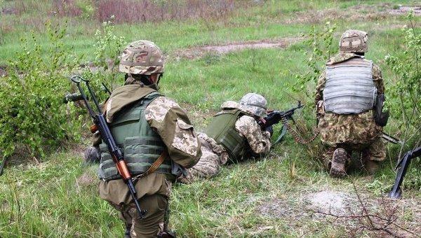 Учения ВСУ на полигоне в Житомирской области