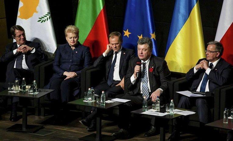 Петр Порошенко на исторической панели Пересмотр последствий Второй мировой войны спустя 70 лет после окончания в Гданьске