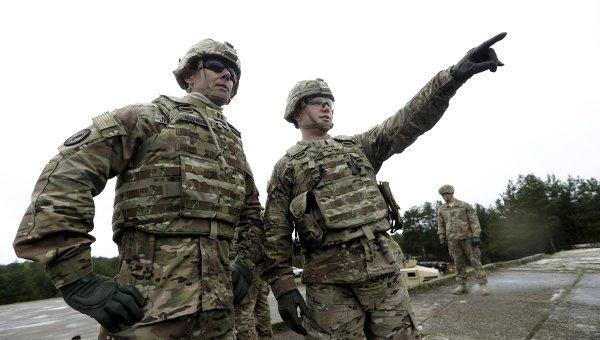 Бронетанковые подразделения США на стрельбах в Латвии