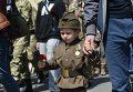 Малыш на Дне Победы в Киеве
