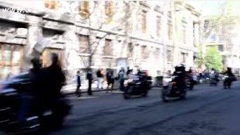 Мото и автопробег в Одессе в честь Дня Победы