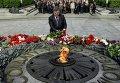 Петр Порошенко в парке Славы