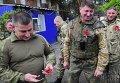Украинские военнослужащие в г. Счастье Луганской области