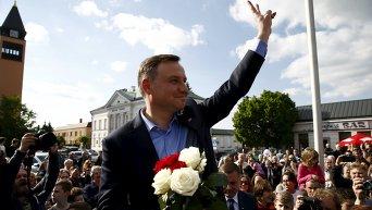 Кандидат от крупнейшей в Польше оппозиционной политической партии Право и справедливость Анджей Дуда