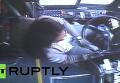 Водитель автобуса в США спровоцировала ДТП, не пристегнувшись ремнем. Видео