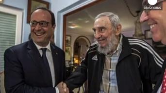 Олланд встретился на Кубе с Фиделем Кастро. Видео