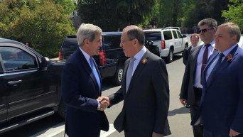 Встреча Джона Керри и Сергея Лаврова в Сочи