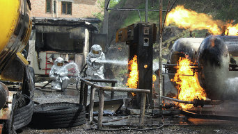 Пожар на АЗС в Виннице