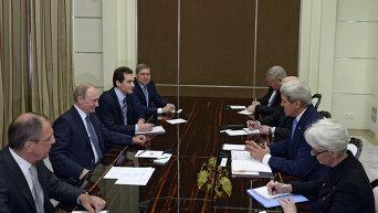 Встреча президента России В.Путина с госсекретарем США Д.Керри