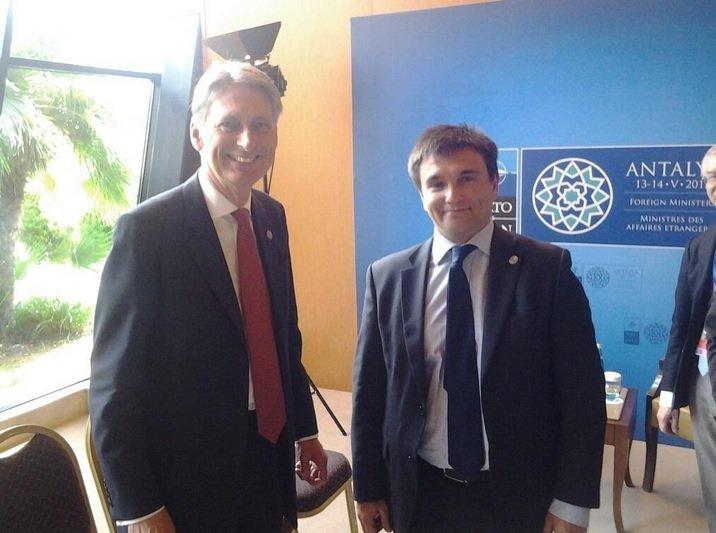 Глава МИД Павел Климкин с руководителем британского Форин-офиса Филипом Хэммондом