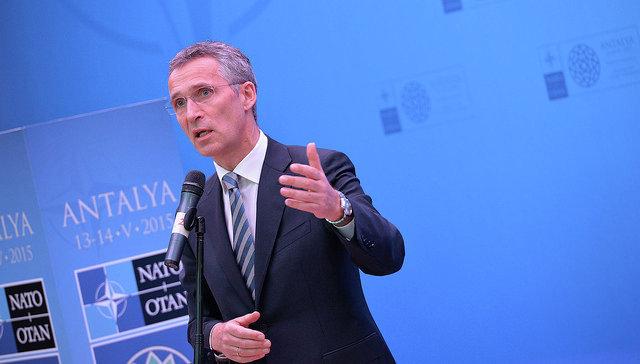 Генеральный секретарь НАТО Йенс Столтенберг на встрече глав МИД стран-членов НАТО