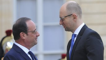 Встреча Арсения Яценюка и Франсуа Олланда в Париже 13 мая 2015 г.