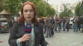 Митингующие против повышения тарифов в Киеве перекрыли ул. Грушевского. Видео