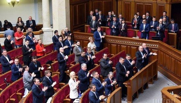 Заседание парламента в здании Верховной Рады Украины в Киеве, 15 мая 2015