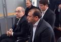 Геннадий Кернес и Михаил Добкин в здании Киевского райсуда Полтавы