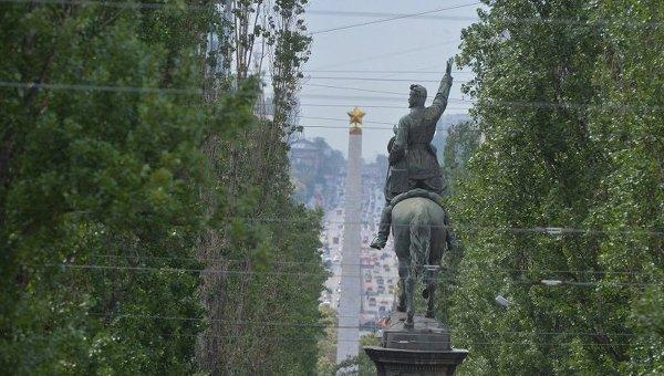 Памятник Щорсу на бульваре Шевченко в Киеве. Архивное фото