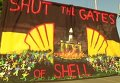 Протест против компании Royal Dutch Shell. Видео