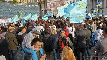 Митинг-реквием по случаю 71-ой годовщины депортации крымских татар