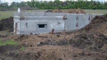 Линия оборонительных сооружений в Донбассе