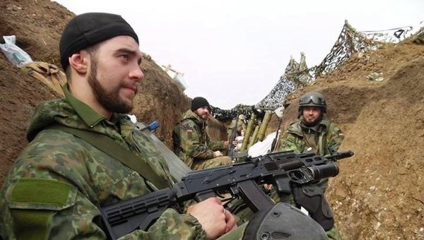 Бойцы Азова под Мариуполем