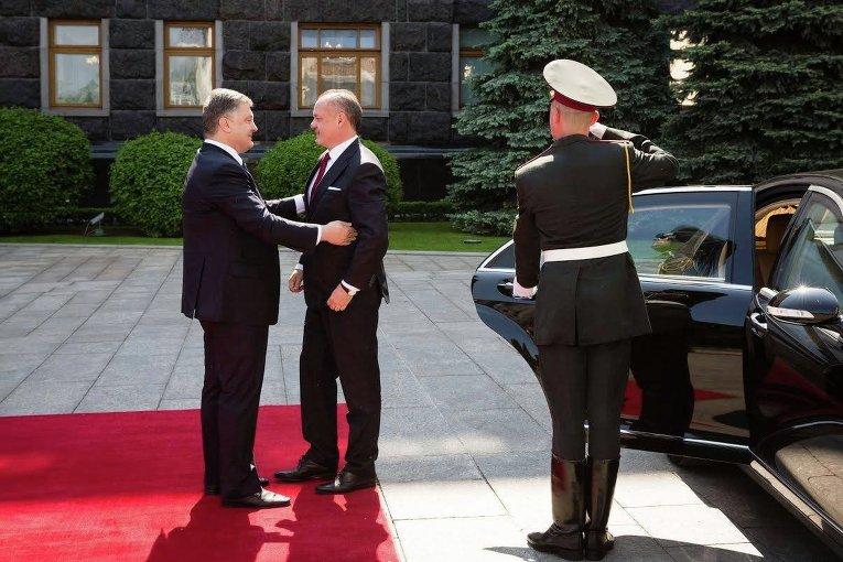 Встреча Петра Порошенко и президента Словакии Андрея Киска
