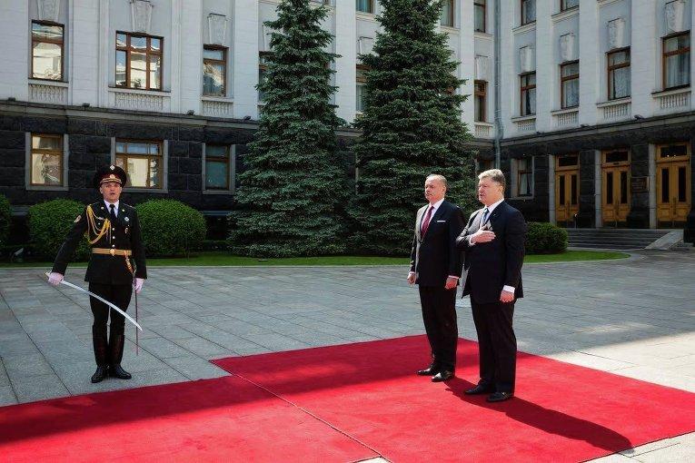 Встреча президента Словакии Андрея Киска и президента Украины Петра Порошенко в Киеве