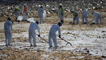 Разлив нефти у берегов Калифорнии