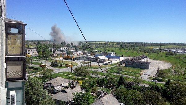 Взрыв возле блокпоста в Мариуполе