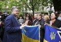 Петр Порошенко на встрече с украинцами в Риге