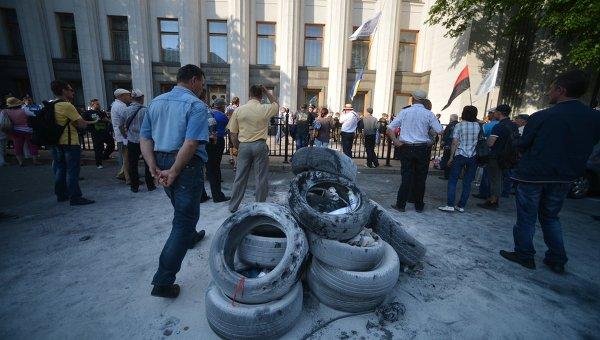 Ситуация у Рады на фоне сгоревших шин