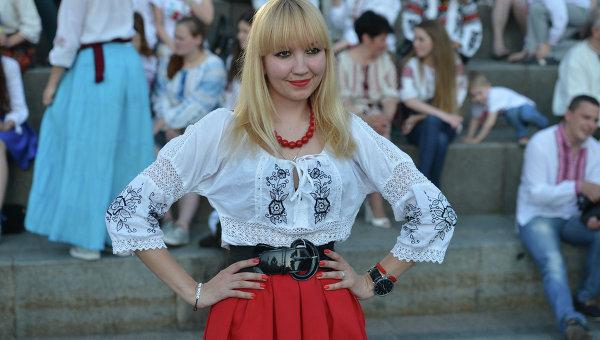День вышиванки на Майдане в Киеве