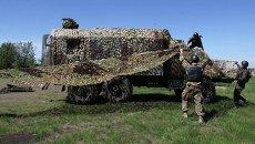 Тактико-строевые занятия украинских военных в зоне АТО